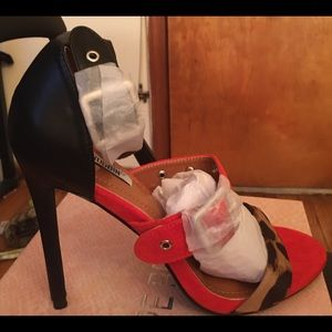 Women's multi colored heels US size 8.5